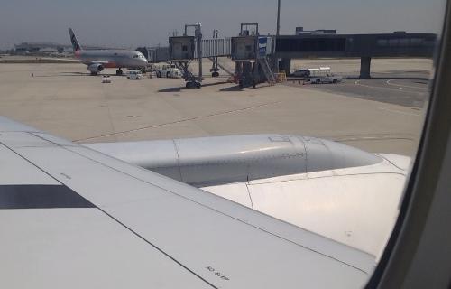 バンコク行きの機内