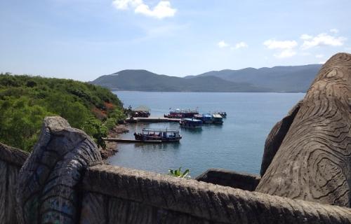 変な島からの景色