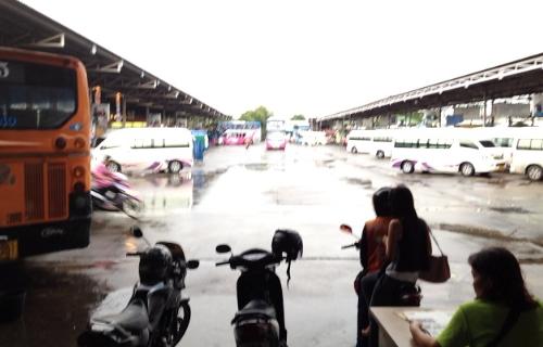 バンコクのバスターミナル