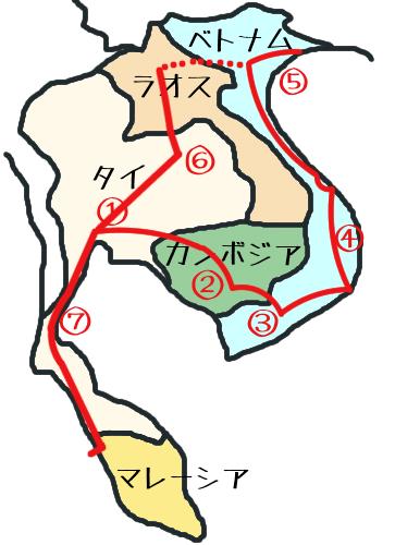東南アジア地図⑦