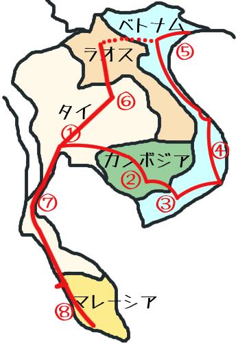 東南アジア地図⑧