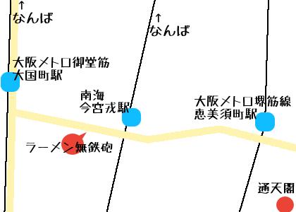 無鉄砲の地図