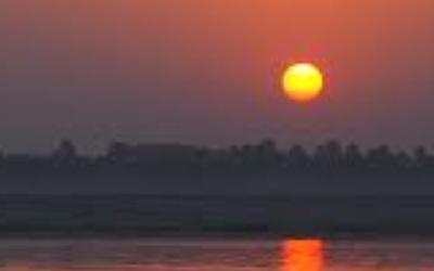 ベナレスの夕陽